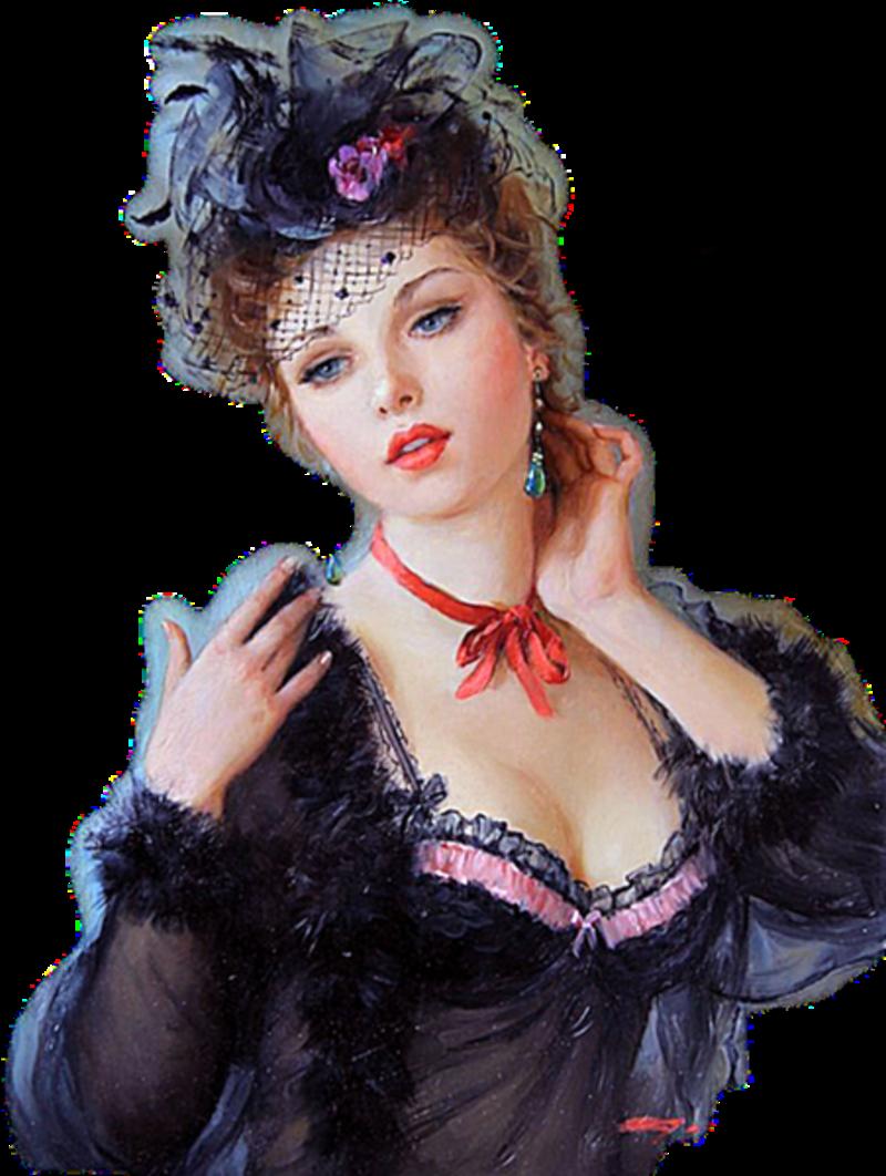 tubes femmes vintage autre epoque